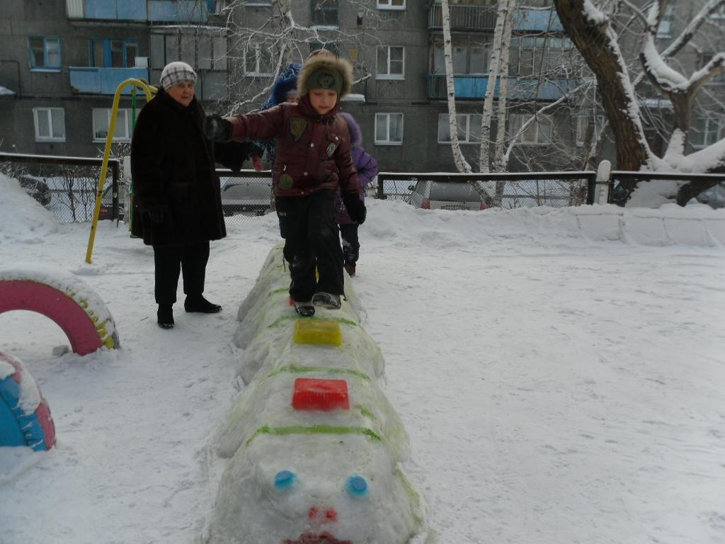Фото снежного городка своими руками